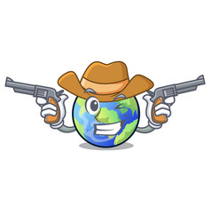 Cowboy earth in the shape on character vector