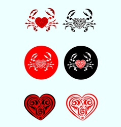 crab-love vector image