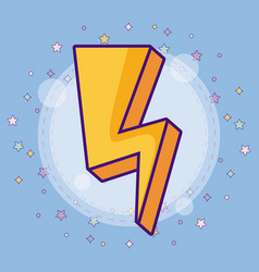 cute lightning bolt icon vector image