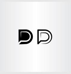 d logo icon black letter symbol sign vector image