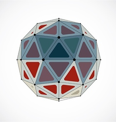 Dimensional wireframe low poly object colorful vector