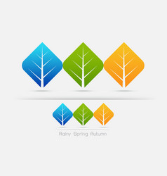 eco friendly color of leaf concept vector image