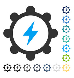 Electric energy cogwheel icon vector