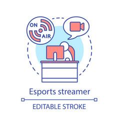 Esports streamer concept icon vector