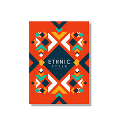 ethnic style abstract original card ethno tribal vector image