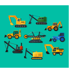 excavators vector image