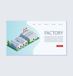 Factory building webpage template concept vector