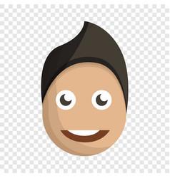fashion boy face icon cartoon style vector image