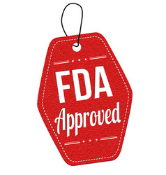 Fda approved label or price tag vector