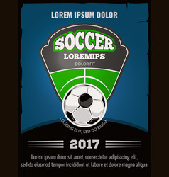 Football soccer poster template vector