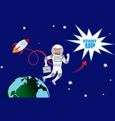 global startup expansion planning vector image