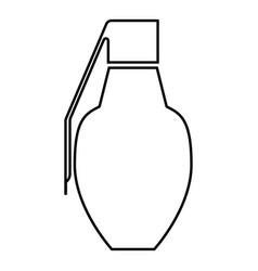 grenade icon black color outline vector image