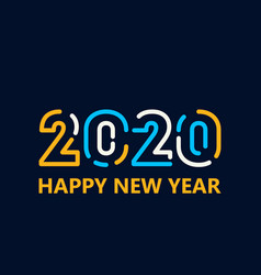 happy new year 2020 template design vector image