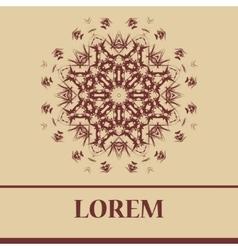 Henna Mandala like snowflake Circular Ornamental vector