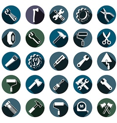 Highly detailed work tools collection carpentry vector image