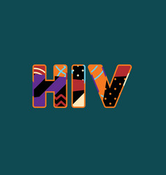 Hiv concept word art vector