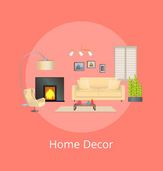 Home decor comfortable flat vector