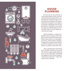 house plumbing poster or infographics vector image