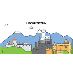 Liechtenstein city skyline architecture vector