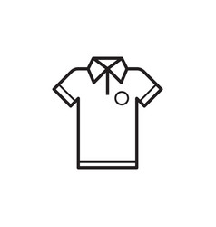 Line t-shirt icon vector