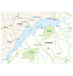 map african lake kariba zambia zimbabwe vector image