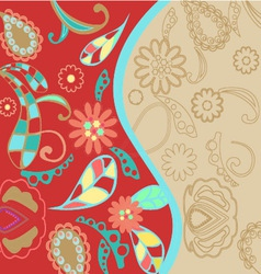 Pattern floral background vector