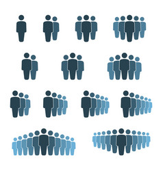 People group icon set working group team with vector