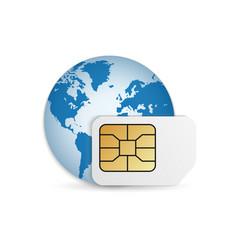 realistic global phone card blank vector image