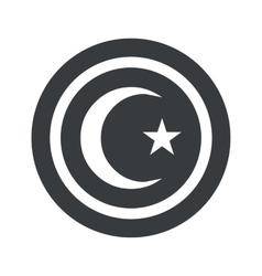 Round black Turkey symbol sign vector
