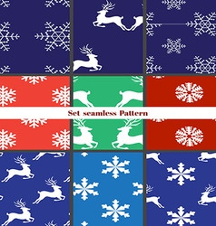 seamless christmas patterns Set vector image