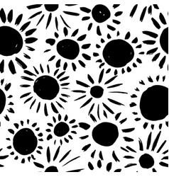 seamless pattern with sun flowers or circles vector image