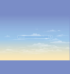 search bar on background of sky simple search vector image