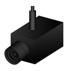 Security video camera icon vector