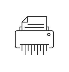 Shredder outline icon vector