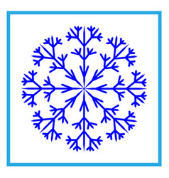 snowflake sign 2510 vector image