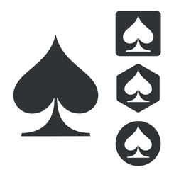 Spades icon set monochrome vector image
