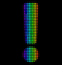 Spectrum pixel exclamation sign icon vector