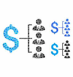 staff payment mosaic icon spheric items vector image