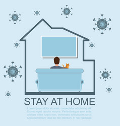 Stay at home during coronavirus epidemic vector