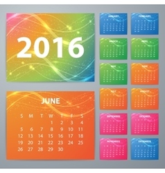 Stock Calendar for 2016 vector image