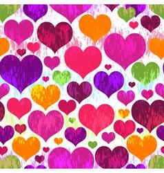 Vivid seamless valentine grunge pattern vector image
