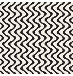 Wavy Lines Pattern Seamless Black and vector