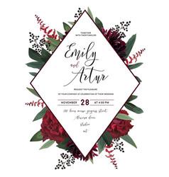 Wedding floral invitation save date car vector