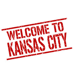 welcome to kansas city stamp vector image