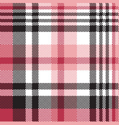 white pink color plaid seamless pattern vector image