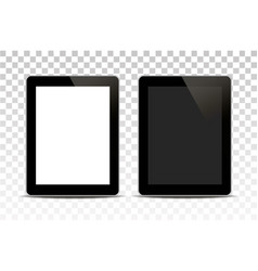 White tablet computer isolated on vector
