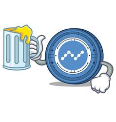 With juice nano coin mascot cartoon vector