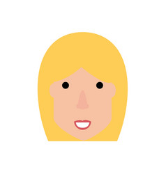 Woman face cartoon vector