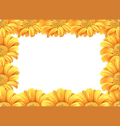 Yellow daisy flower border vector