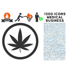 cannabis icon with 1300 medical business icons vector image